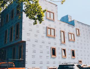 High Performance, passive House Windows and doors - 2837 Washington Street Townhouses